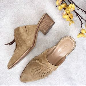 MADEWELL || 8.5 Suede Fringe Mules
